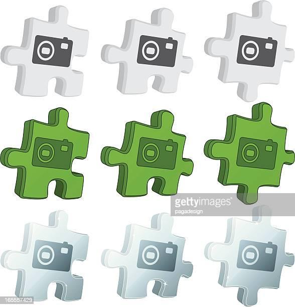 puzzle icons - photo camera