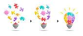 Puzzle light bulb -solution image-