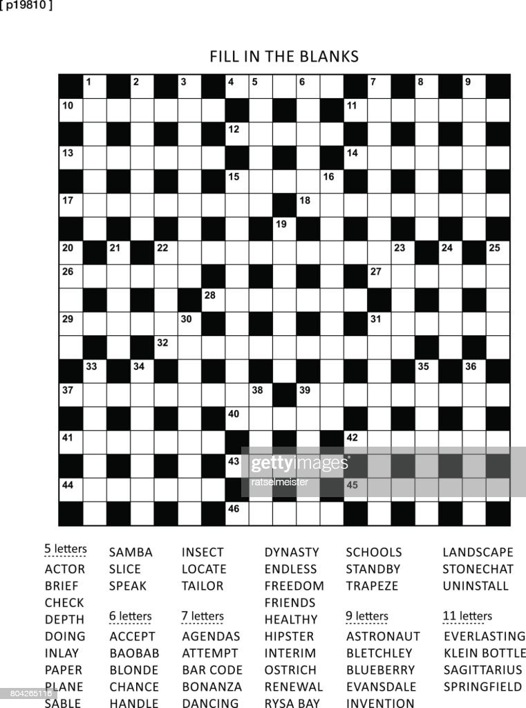 Puzzle page with criss-cross (or fiil in) word game