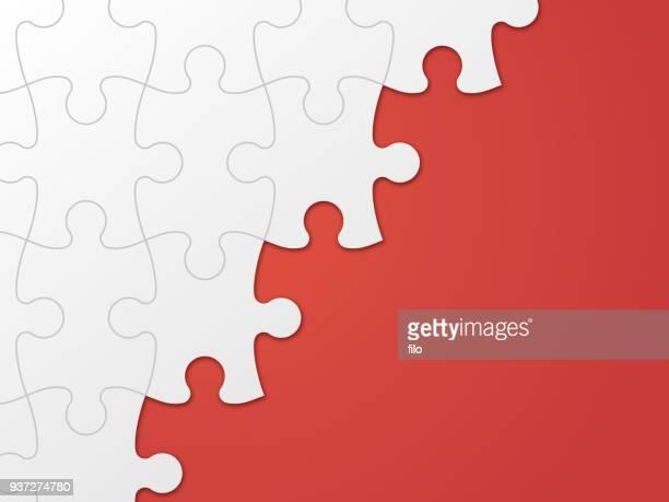 puzzle piece background - puzzle stock illustrations
