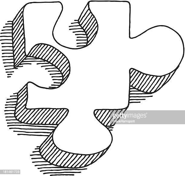 Puzzle Stück Zeichnung