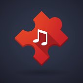 Puzzle piece icon with a note