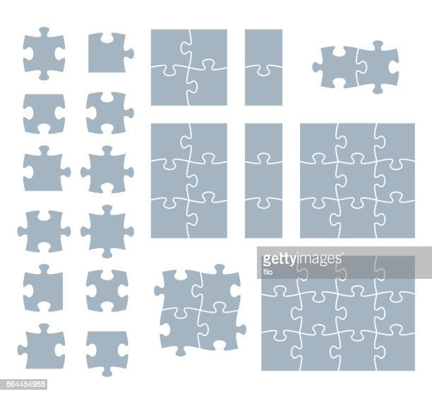puzzle pieces - part of stock illustrations