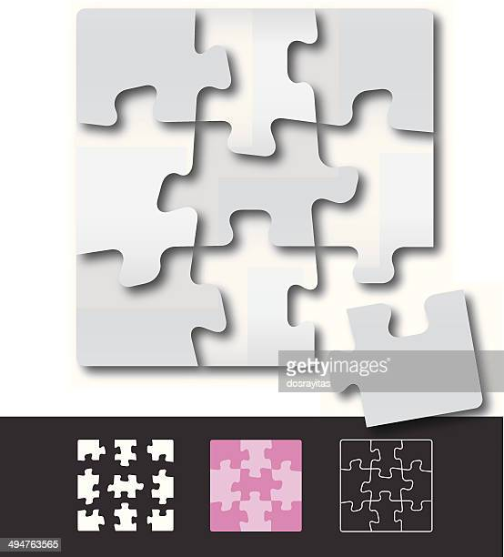jigsaw puzzle framesのイラスト素材と絵 getty images