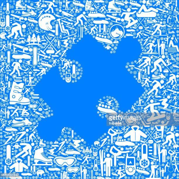 puzzle-spaß vektorgrafik wintersport - skeleton wintersport stock-grafiken, -clipart, -cartoons und -symbole