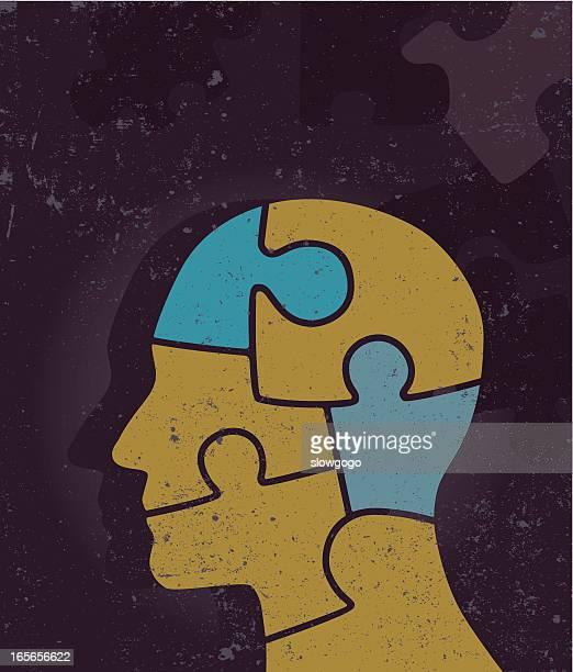 stockillustraties, clipart, cartoons en iconen met puzzled? - ziekte van alzheimer