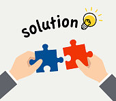 Puzzles in hand and solution image