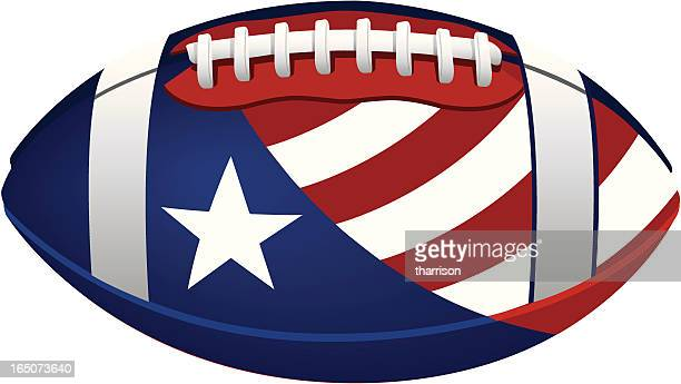 pvector patriotic football - american football ball stock illustrations, clip art, cartoons, & icons