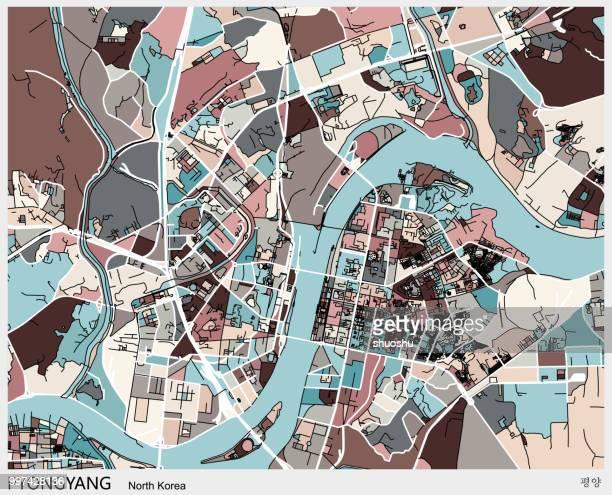 Pyongyang city art map