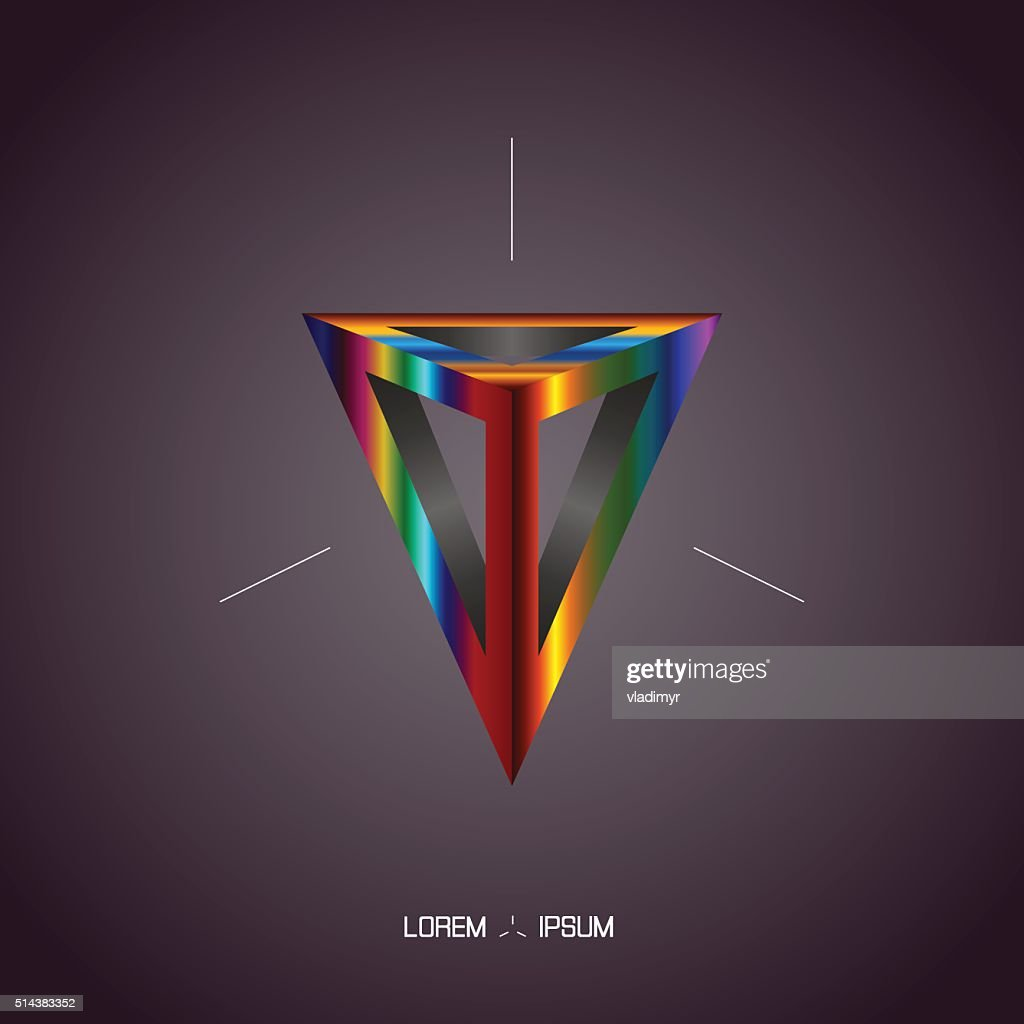 Pyramid abstract background