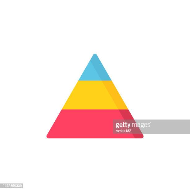 pyramid flat icon. pixel perfect. for mobile and web. - funnel stock illustrations