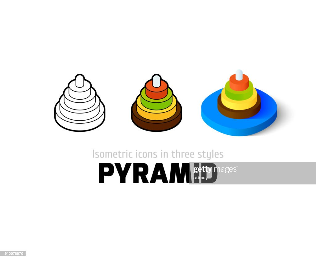 Pyramid icon in different style