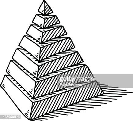 Calques de dessin abstrait pyramide clipart vectoriel - Dessin de pyramide ...