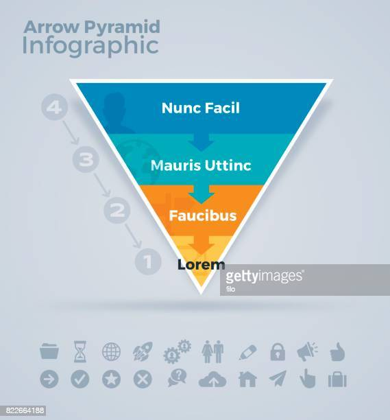 pyramid levels infographic - pyramid stock illustrations