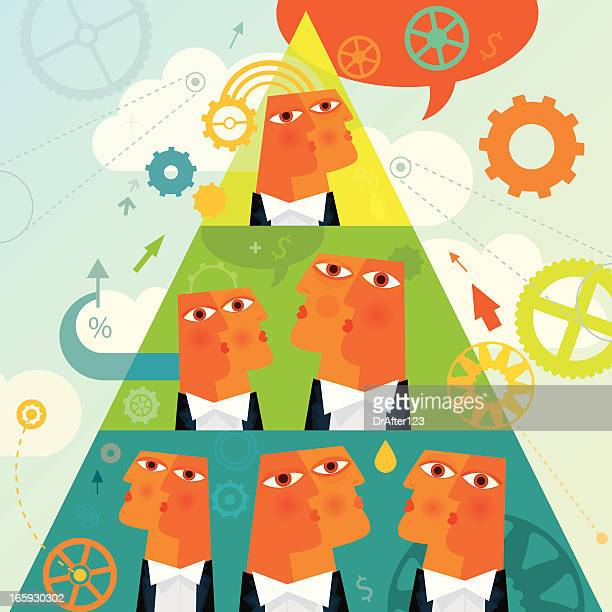 pyramid scheme - conspiracy stock illustrations, clip art, cartoons, & icons