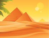 Pyramids and Desert