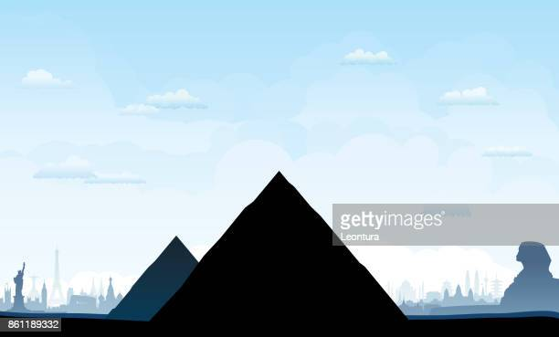 pyramids - the sphinx stock illustrations, clip art, cartoons, & icons