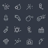 pyrotechnic and firework icons