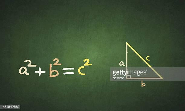 pythagorean theorem - mathematical formula stock illustrations