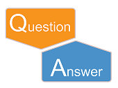 q and a icon on white background. question and answer sign. flat style. q and a symbol design.
