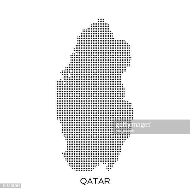 qatar dot halftone pattern map - qatar stock illustrations, clip art, cartoons, & icons