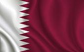 Qatar flag background