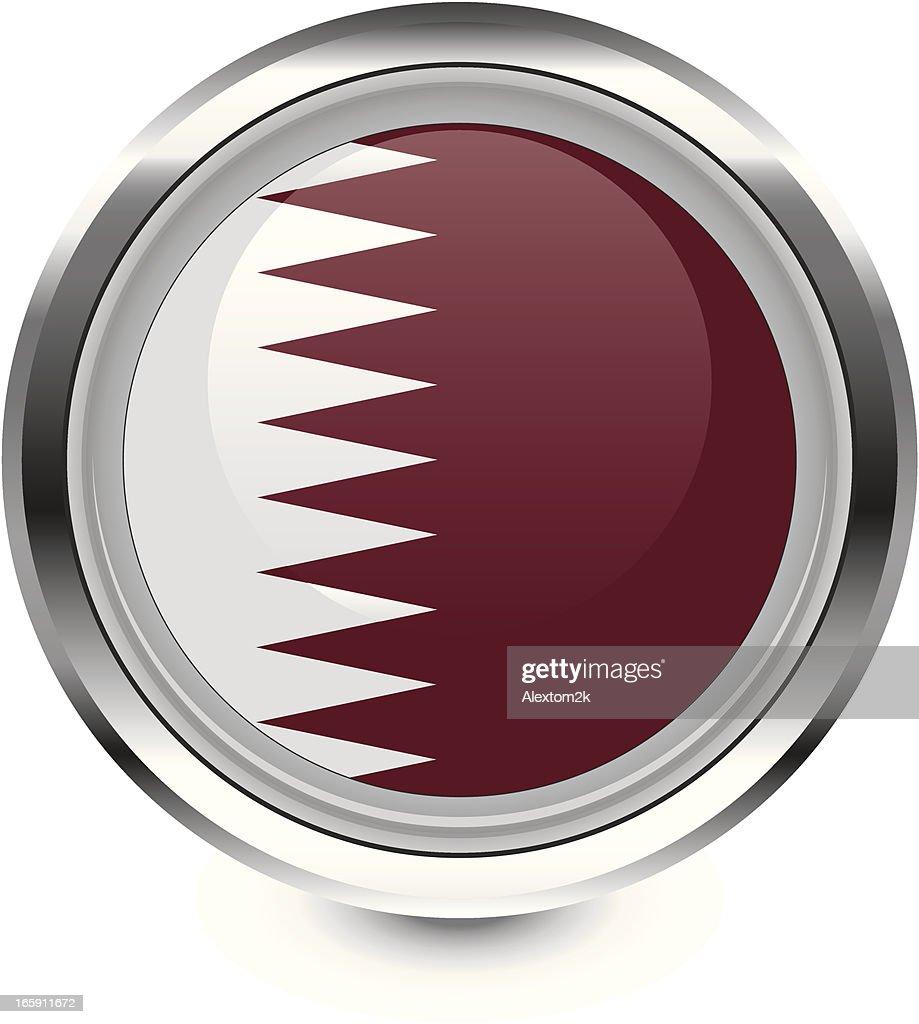 Qatar flag icon : stock illustration