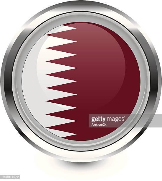 ilustrações, clipart, desenhos animados e ícones de ícone de bandeira do qatar - qatar