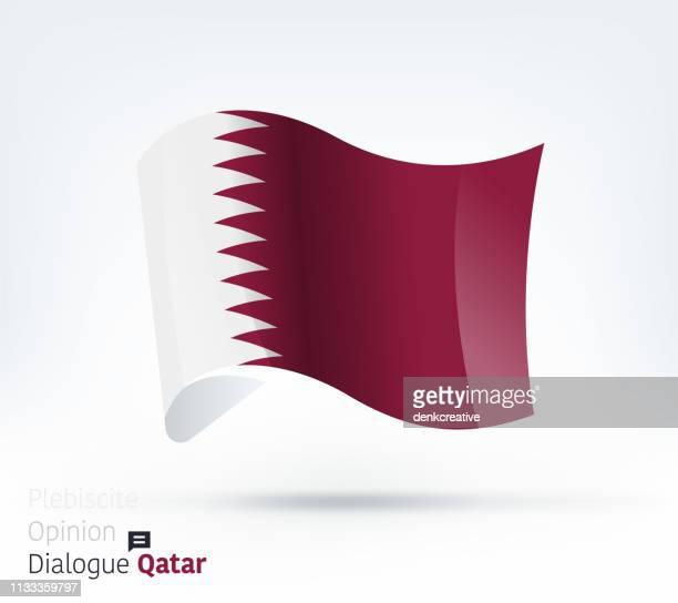 qatar flag international dialogue & conflict management - qatar stock illustrations, clip art, cartoons, & icons