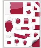 Qatar Flag Set - Vector Collection