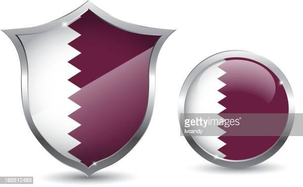 qatar flag - qatar stock illustrations, clip art, cartoons, & icons