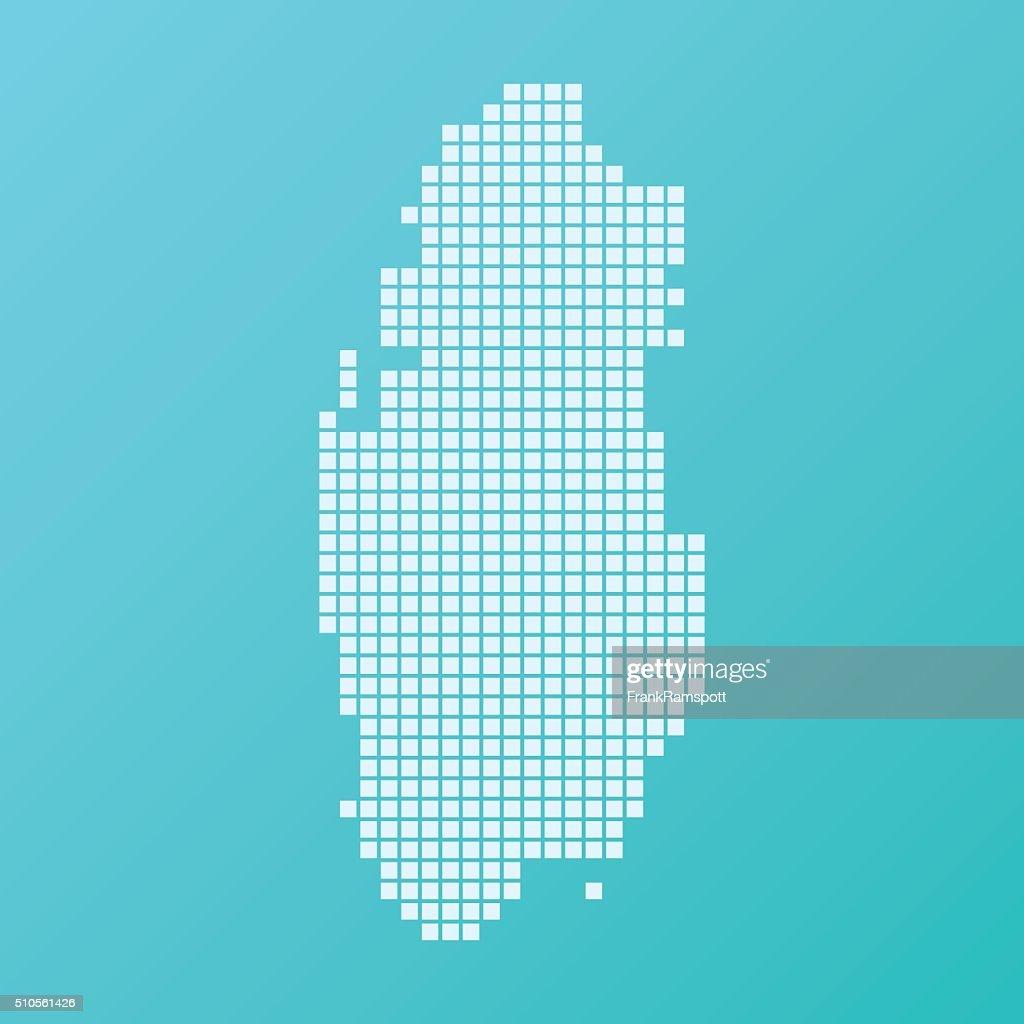 Qatar mapa Plaza patrón de fondo turquesa : Ilustración de stock