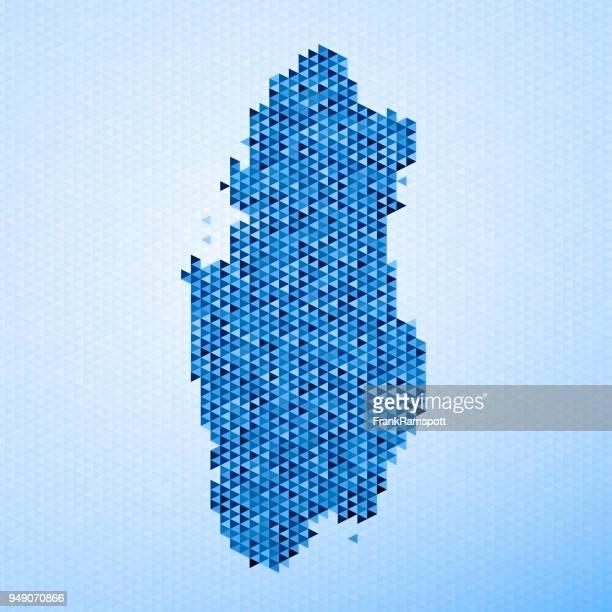 ilustrações, clipart, desenhos animados e ícones de qatar mapa triângulo padrão azul - qatar
