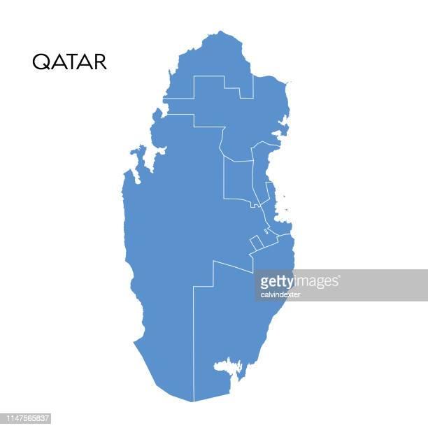 qatar map - qatar stock illustrations, clip art, cartoons, & icons