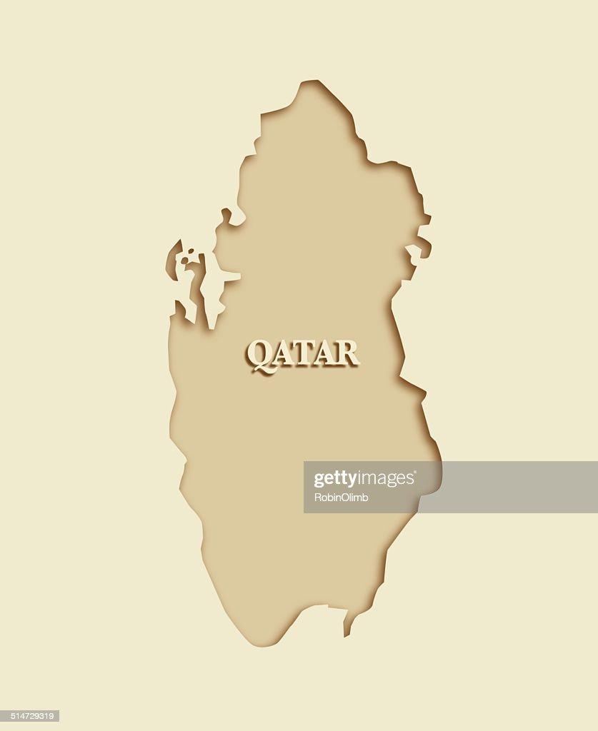 Qatar Map : stock illustration