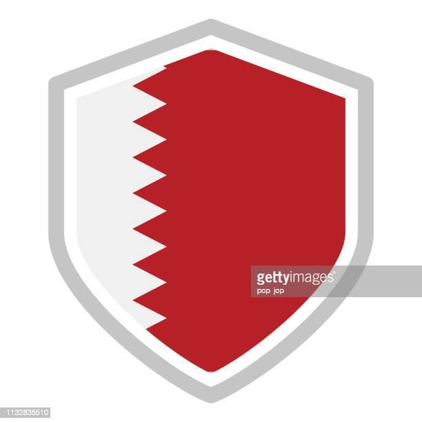 qatar - shield flag vector flat icon - qatar stock illustrations, clip art, cartoons, & icons