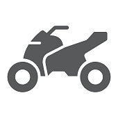 Quadbike glyph icon, bike and extreme, ATV motorcycle sign, vector graphics, a solid pattern on a white background.