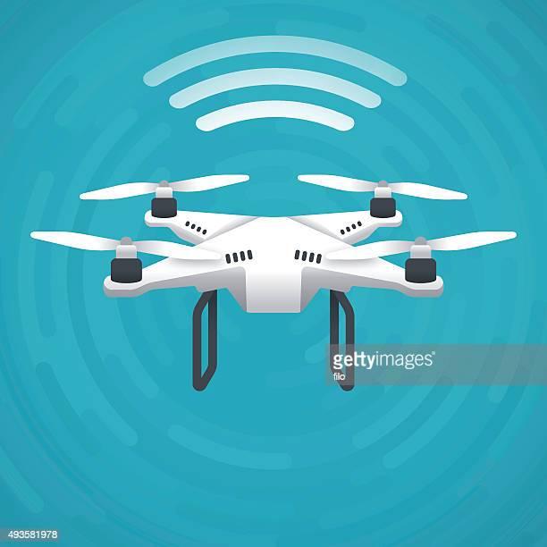 ilustraciones, imágenes clip art, dibujos animados e iconos de stock de quadcopter soniquete - drone