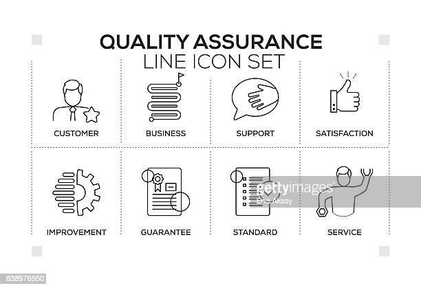 illustrations, cliparts, dessins animés et icônes de quality assurance keywords with monochrome line icons - homme soumis