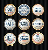 Quality badges and labels retro collection