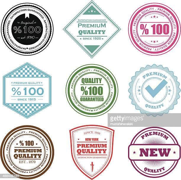 quality badges - approval stock illustrations, clip art, cartoons, & icons