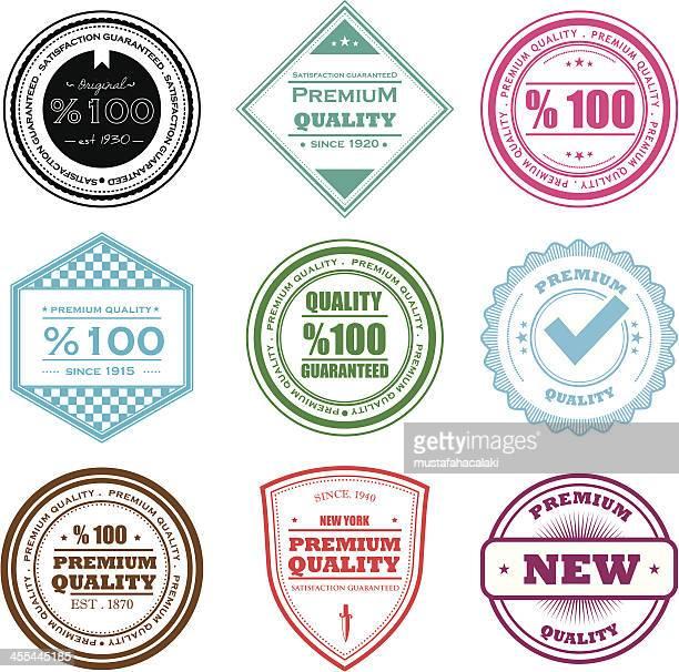 quality badges - permission concept stock illustrations, clip art, cartoons, & icons