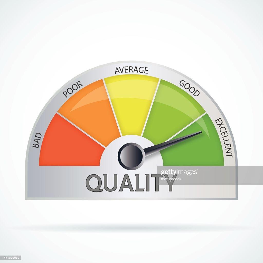 Quality chart : stock illustration