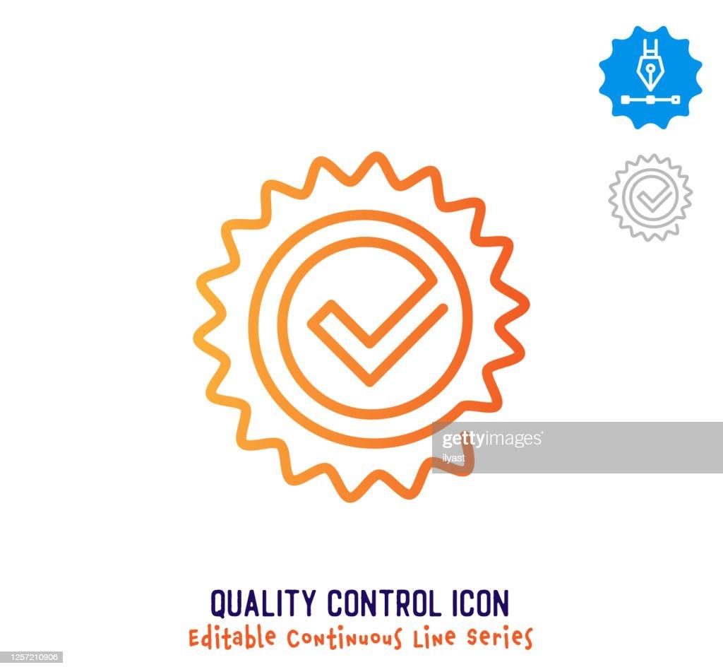 品質管理連続線編集可能な線 : ストックイラストレーション