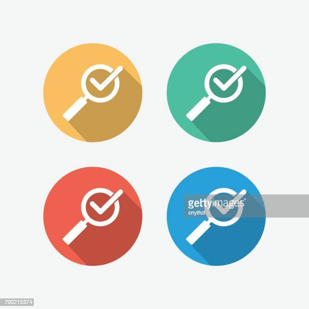 quality control flat icon - inspector stock illustrations, clip art, cartoons, & icons