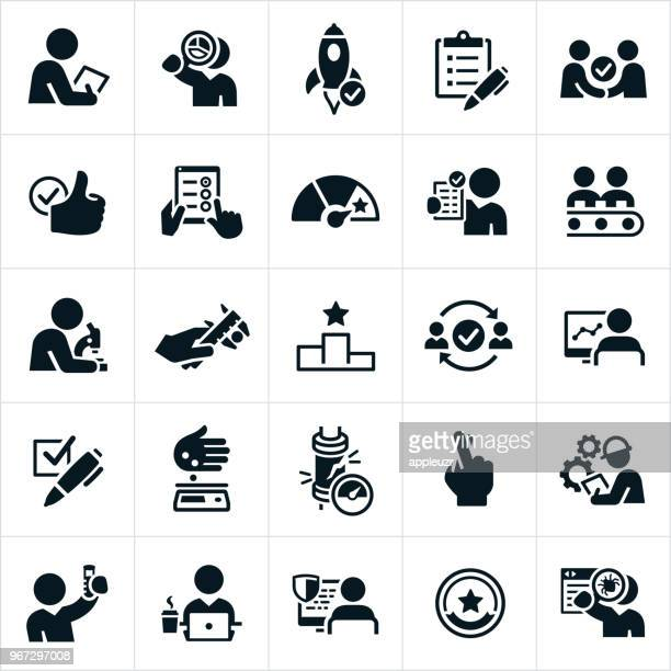 quality control icons - rating stock illustrations