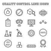 quality control line icons