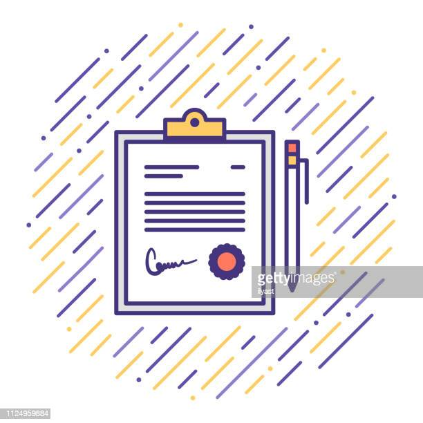 quality control process flat line icon illustration - occupational safety and health stock illustrations, clip art, cartoons, & icons