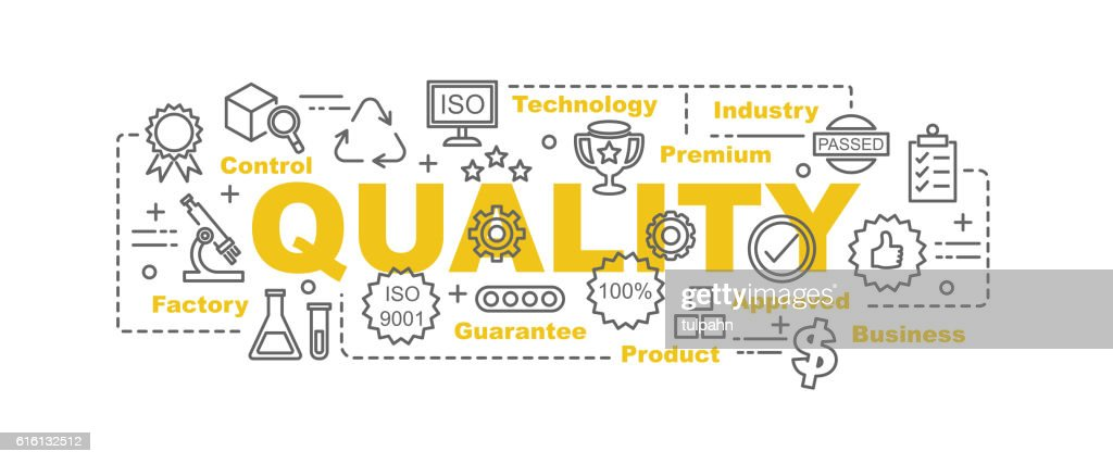 quality control vector banner