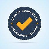 Quality guaranteed - tested badge